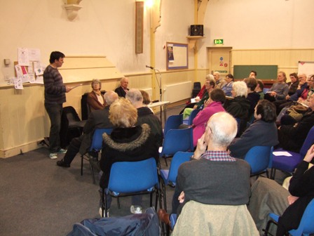 Photo of Neil Harrison at public meeting