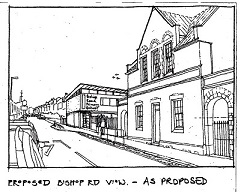 Drawing of proposed Bishop Road school extension
