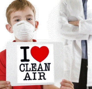 Boy with I Heart Clean Air Sign 2