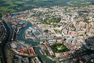 destination bristol hr aerial shot of bristol