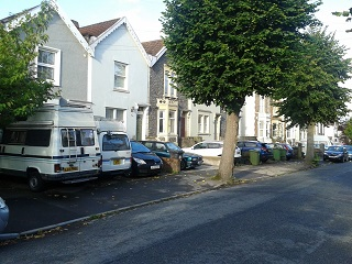 thumbnail Parking in front gardens Berkeley Road